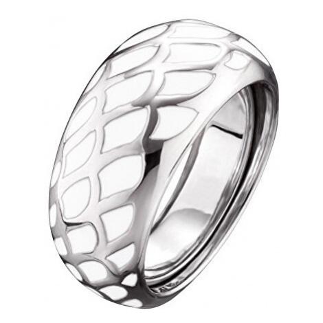 Engelsrufer Stříbrný prsten s bílým smaltem ERR-ENW