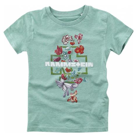 Rammstein Blumen detské tricko máta