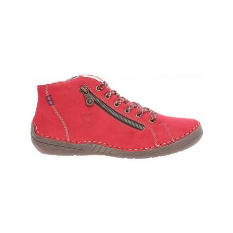 Rieker Dámská kotníková obuv 52549-36 rot Červená