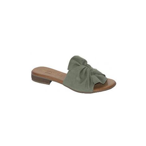 Zelené kožené pantofle 5th Avenue