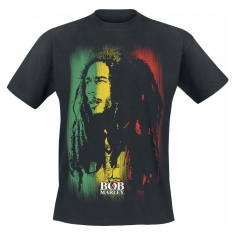 Bob Marley Stare Paint Stripe tricko černá