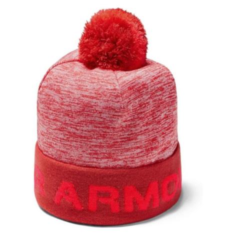 Under Armour GAMETIME POM BEANIE červená - Chlapecká čepice