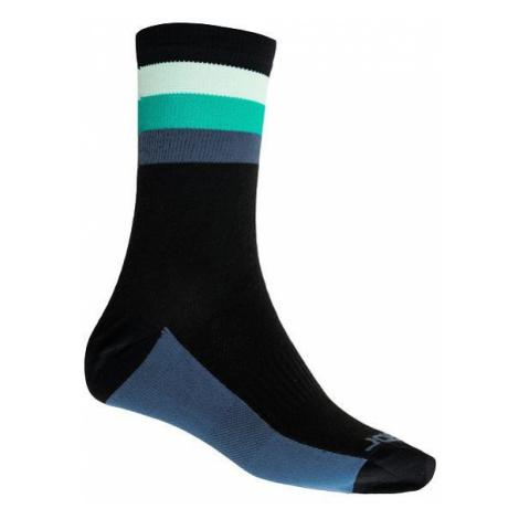 Ponožky SENSOR Coolmax Summer Stripe černá/zelená