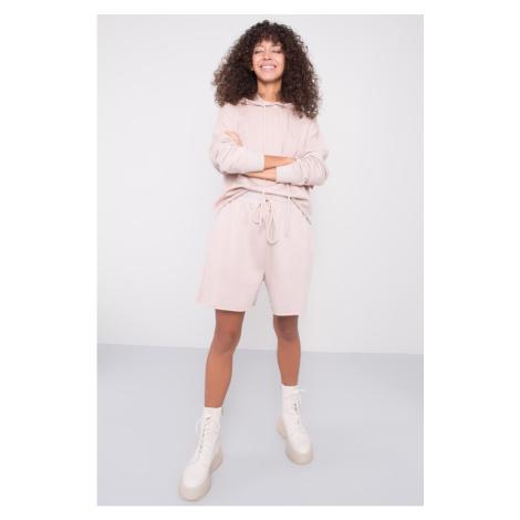 BSL Light beige sweatshirt Bermuda shorts Fashionhunters