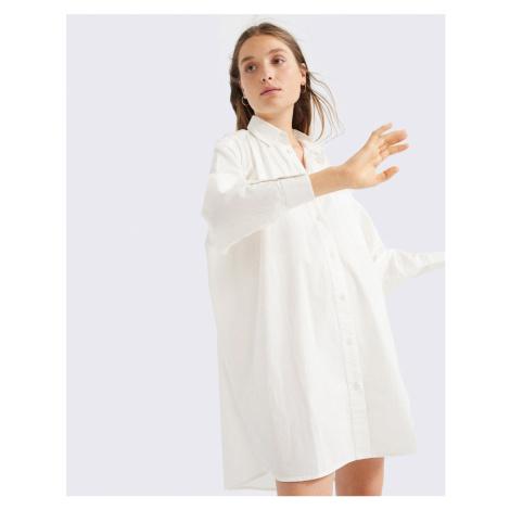 Thinking MU White Silvia Oversize Dress SNOW WHITE