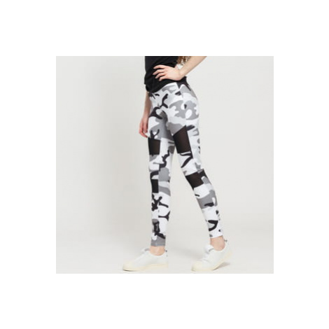 Urban Classics Ladies Camo Tech Mesh Leggings camo šedé / bílé / černé