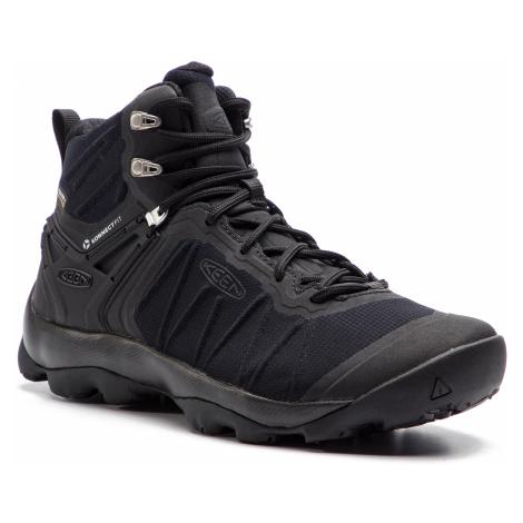 Trekingová obuv KEEN - Venture Mid Wp 1021168 Black/Black