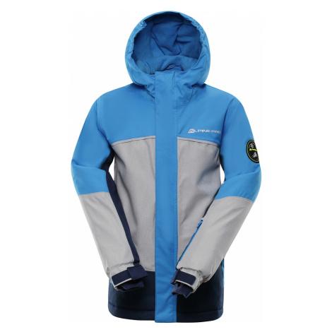 ALPINE PRO SARDARO 2 Dětská lyžařská bunda KJCP154674 Blue aster