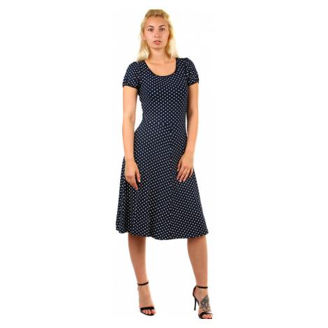 Puntíkované dámské retro šaty
