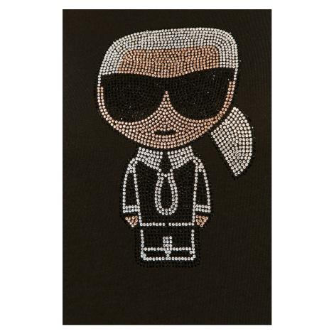 Černé tričko KARL LAGERFELD ikonik