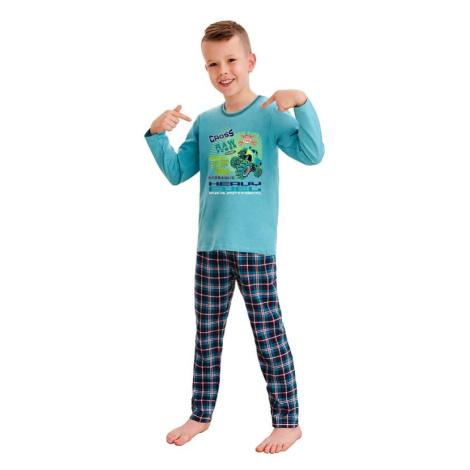 Klučičí pyžamo Leo cross power modré Taro