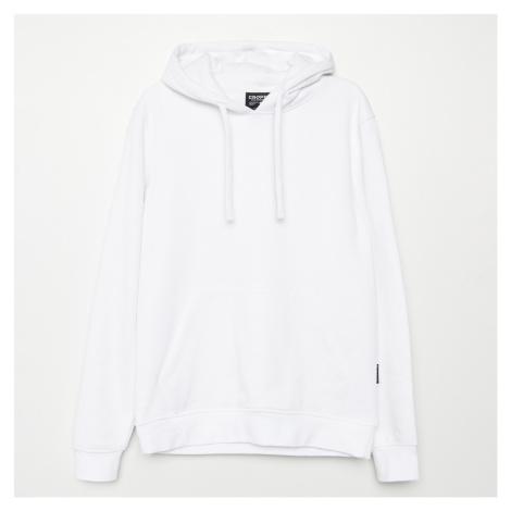 Cropp - Mikina s kapucí basic - Bílá