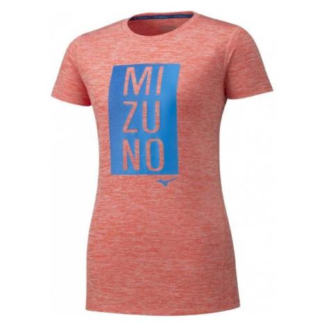 Mizuno IMPULSE CORE GRAPHIC TEE oranžová - Dámské běžecké triko
