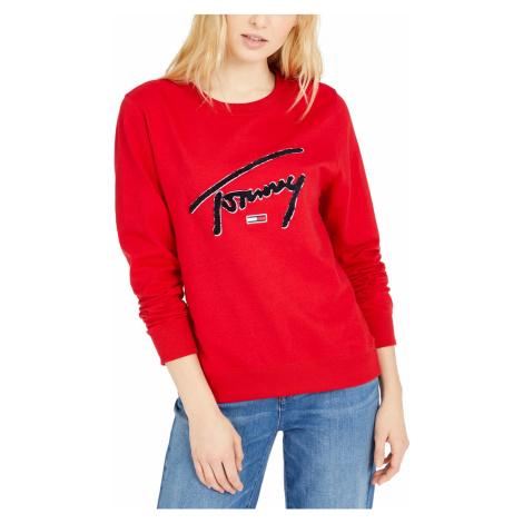 Mikina Tommy Jeans Logo Graphic červená Tommy Hilfiger