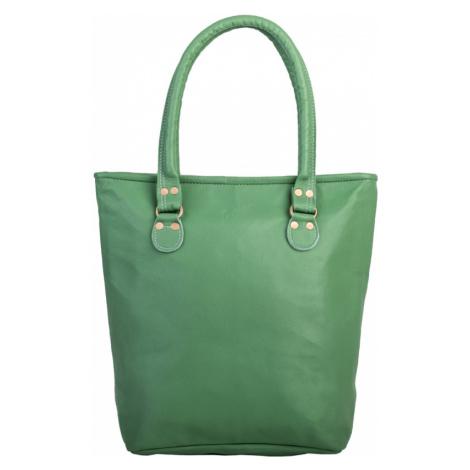 Bagind Belka Jungle - Dámská kožená kabelka světle zelená, ruční výroba, český design