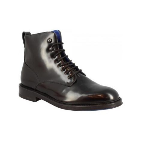 Leonardo Shoes 7397 SPAZZOLATO NERO Černá