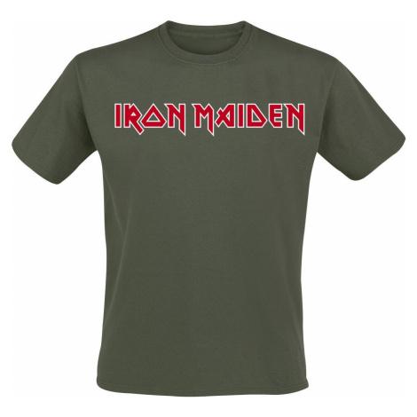 Iron Maiden Logo tricko khaki