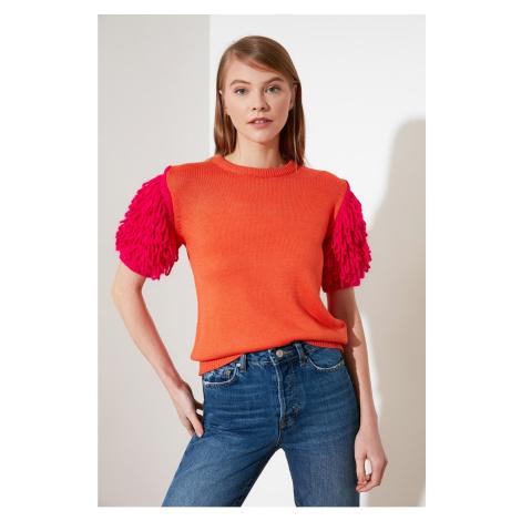 Trendyol Knitwear Sweater WITH Orange Tassels