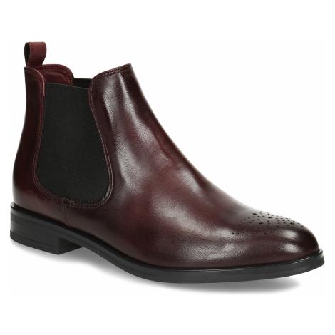 Dámská kožená Chelsea obuv s perforací na špičce Baťa
