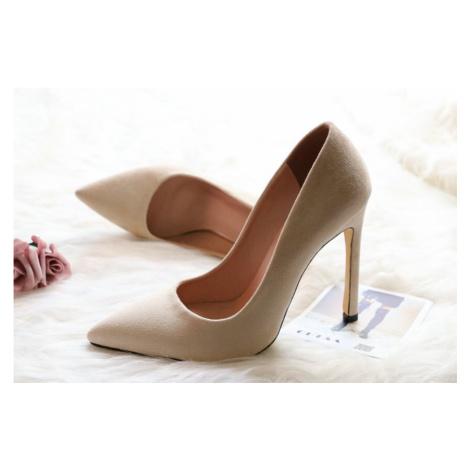 Semišové lodičky na vysokém podpatku 11 cm svatební boty