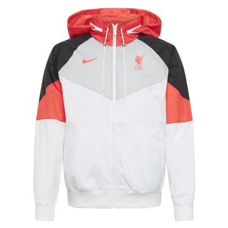 NIKE Sportovní bunda 'LFC' bílá / světle šedá / černá / červená