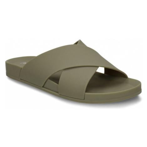 Khaki dámské pantofle Pata pata