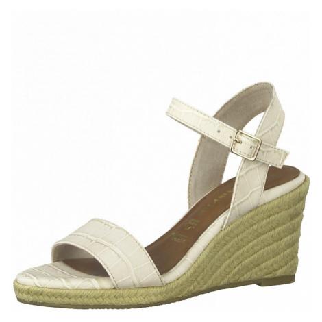 TAMARIS Páskové sandály krémová
