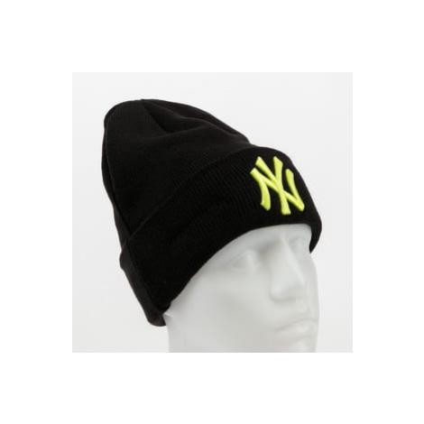 New Era MLB League Essential Cuff Knit NY černý / žlutozelený