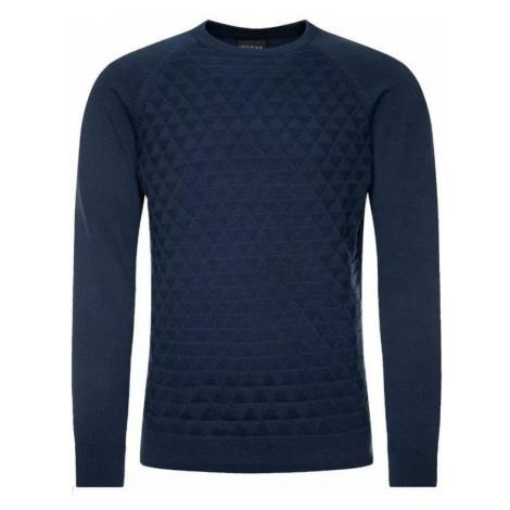 GUESS pánský tmavě modrý bavlněný svetr
