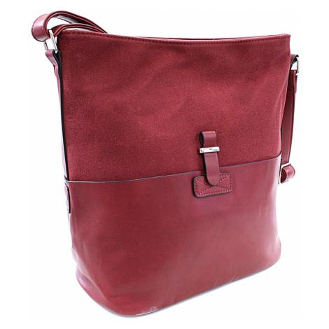 Červená elegantní velká crossbody kabelka Zerlinda Tapple