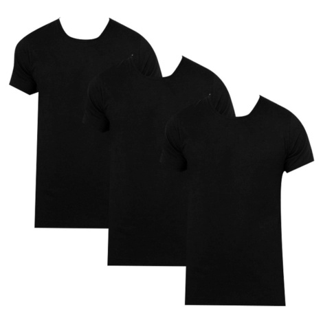 3PACK men's t-shirt Calvin Klein black (NB4011E-001)