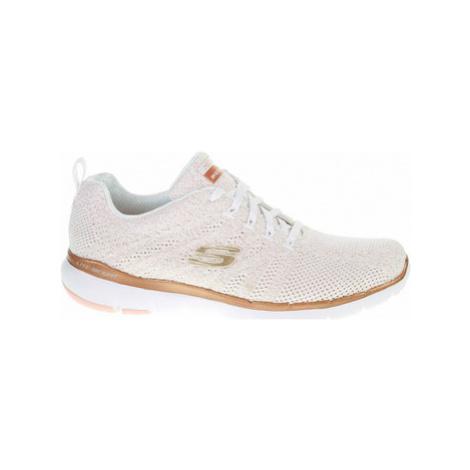 Skechers Flex Appeal 3.0 - Metal Works white-rose-gold Růžová
