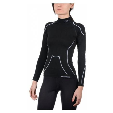 Mico LONG SLEEVES MOCK NECK SHIRT WARM SKIN W černá - Dámské lyžařské spodní prádlo