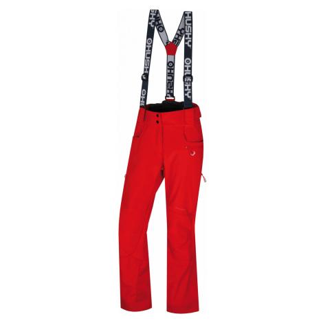 Husky Galti L, jemná červená Dámské lyžařské kalhoty