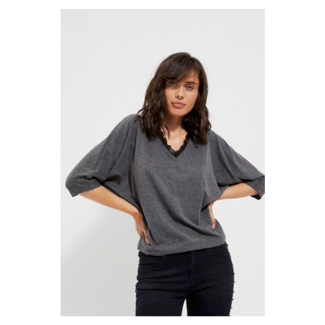 Oversized blouse with lace Moodo