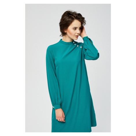Moodo šaty dámské volné s dlouhým rukávem