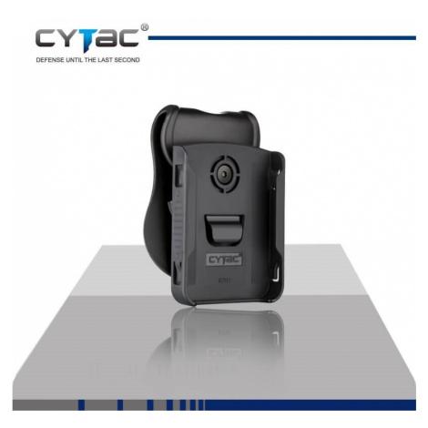 Pouzdro na mobil Cytac® iPhone 8 Plus - černé