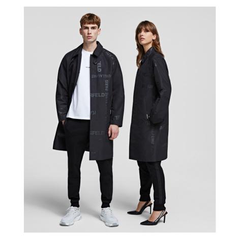 Kabát Karl Lagerfeld Unisex Trench Coat - Černá