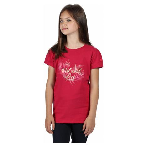 Dětské tričko Regatta BOSLEY III tmavě růžová