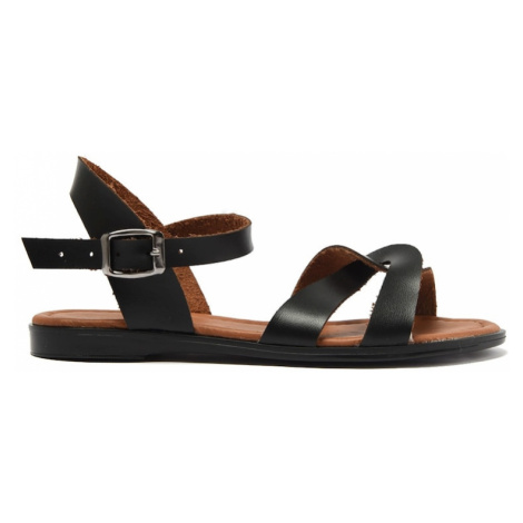 Trendyol Black Genuine Leather Women Sandals