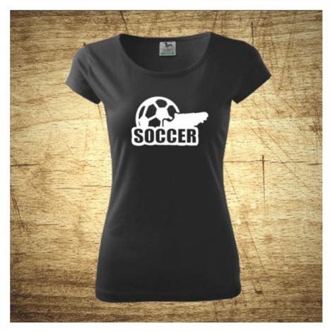 Dámske  tričko s motívom Soccer BezvaTriko