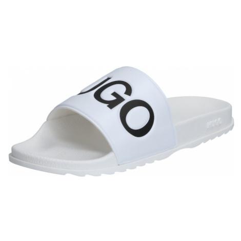 HUGO Pantofle 'Match_Slid' bílá / černá Hugo Boss