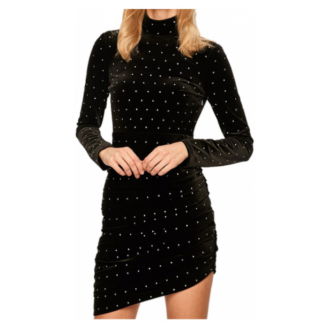 Černé sametové šaty - MISS SIXTY
