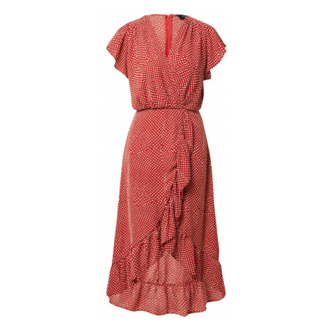 AX Paris Šaty rezavě červená / bílá