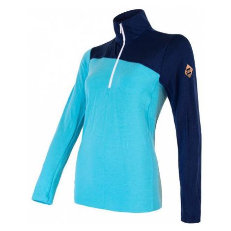 Dámské tričko SENSOR Merino Extreme dl. rukáv zip tm. modrá/modrá