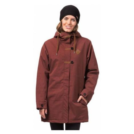 Horsefeathers ALVA JACKET hnědá - Dámská lyžařská/snowboardová bunda