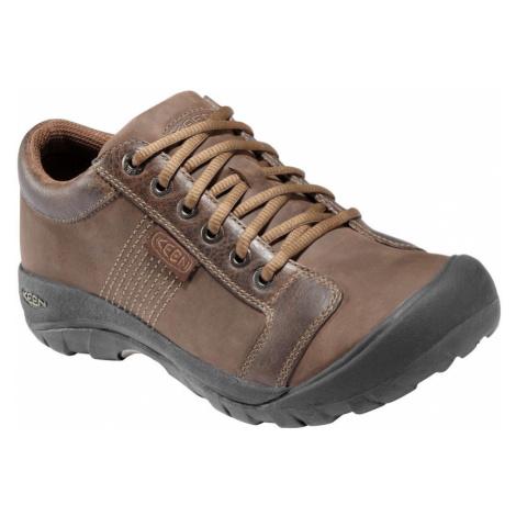 KEEN Austin M Pánská kožená obuv C121300001508 chocolate brown