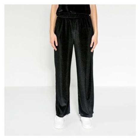 Černé sametové kalhoty – Glitter Agnete Pieces