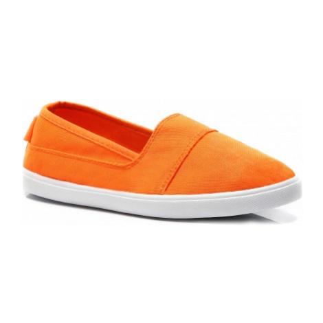 Jednoduché oranžové dásmké slip on Vices