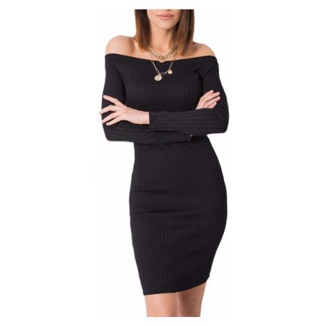 černé dámské přiléhavé šaty Rue Paris